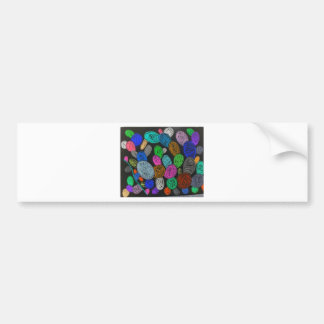 Inverted Molecules Bumper Sticker