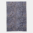 Inverted Oyster Shells Abstract Hand Towel