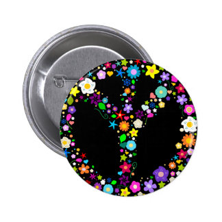 Inverted Peace Sign - as its inventor wanted Pinback Buttons