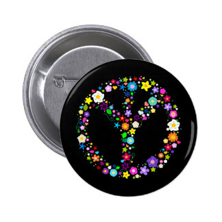 Inverted Peace Sign - as its inventor wanted Pinback Button