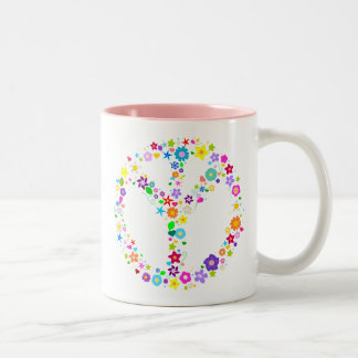 Inverted Peace Sign - as its inventor wanted Two-Tone Coffee Mug