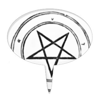 Inverted_Pentacle Cake Topper