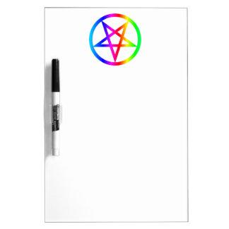 Inverted Pentagram Dry-Erase Whiteboard