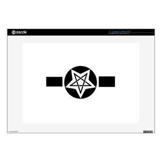 "Inverted Pentagram Military Symbol 15"" Laptop Skin"