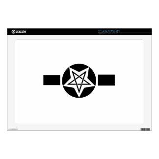 "Inverted Pentagram Military Symbol Skins For 17"" Laptops"