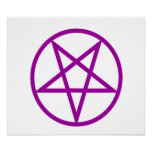 Inverted Purple Pentagram Print