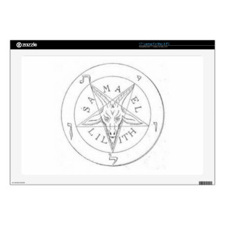 "Inverted Satanic Pentagram 17"" Laptop Skins"