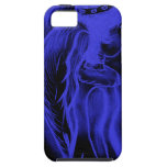 Inverted Sideways Angel in Black and Blue iPhone 5 Case