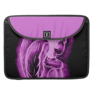Inverted Sideways Angel in Black and Pink MacBook Pro Sleeve