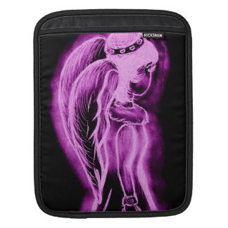 Inverted Sideways Angel in Black and Pink Sleeve For iPads