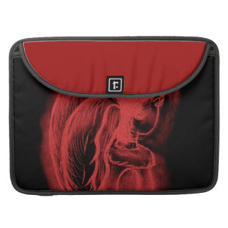 Inverted Sideways Angel in Black and Red Sleeve For MacBook Pro