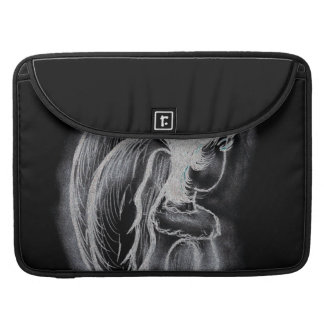 Inverted Sideways Angel in Black and White Sleeve For MacBook Pro