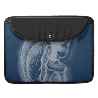 Inverted Sideways Angel in Dusky Blues MacBook Pro Sleeve