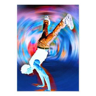 "Inverted Street Dancing! 5"" X 7"" Invitation Card"