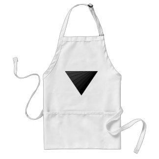 Inverted triangle, art adult apron