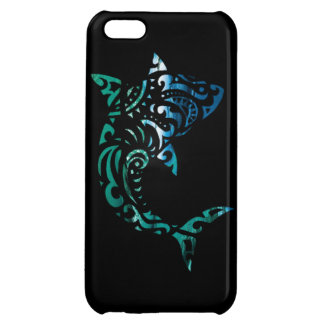 Inverted tribal shark case for iPhone 5C