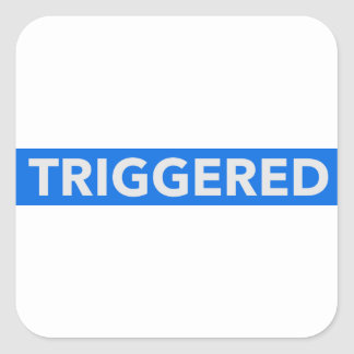 Inverted Triggered Text Square Sticker