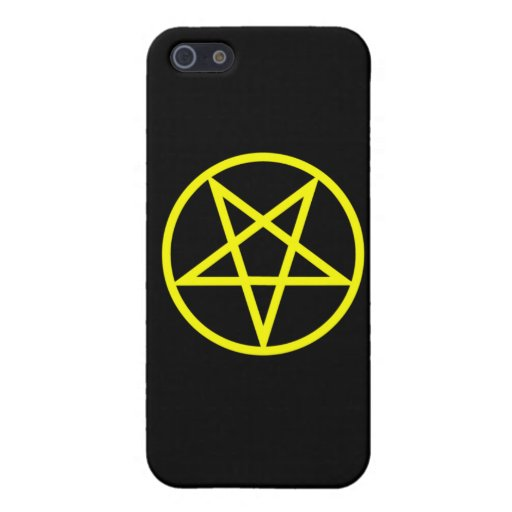 Inverted Yellow Pentagram Cases For iPhone 5
