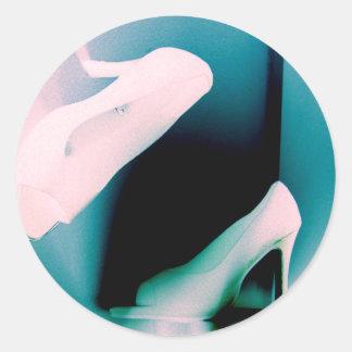 Inverterd Pastel Shoes Classic Round Sticker