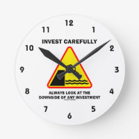 Invest Carefully Always Look At The Downside Any Round Clocks