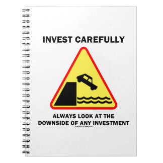 Invest Carefully Always Look At The Downside Any Spiral Notebook