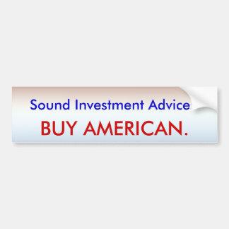 Invest in America Car Bumper Sticker