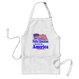 Invest in Public Education Adult Apron