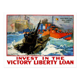Invest in the Victory Liberty Loan Postcard