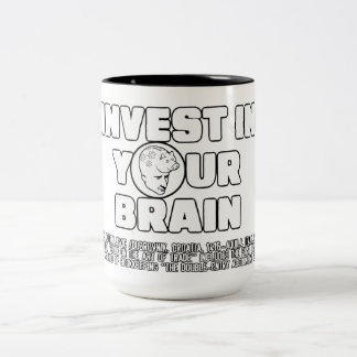 Invest In Your Brain Two-Tone Coffee Mug