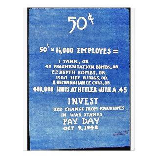 Invest Odd Change From Envelopes In War Stamps Pay Flyer Design