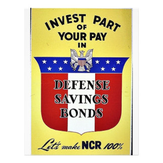 Invest Part Of Your Pay In Defense Savings Bonds Flyer