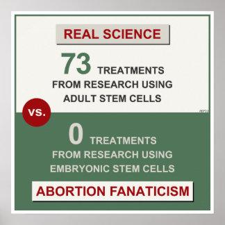 Investigación adulta de la célula madre póster