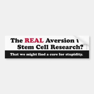Investigación Bumpersticker de la célula madre Etiqueta De Parachoque
