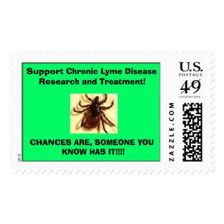 investigación crónica tic, de la ayuda de Lyme de Sello Postal