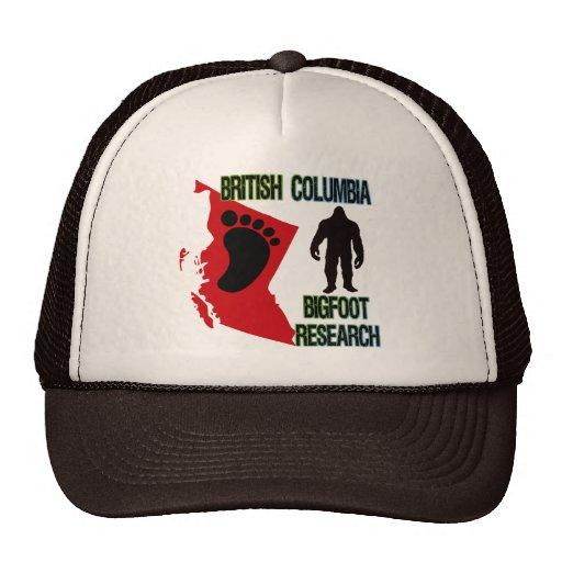 Investigación de Bigfoot de la Columbia Británica Gorras De Camionero