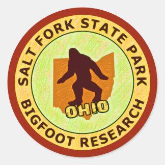 Investigación de Bigfoot del parque de estado de Etiqueta Redonda
