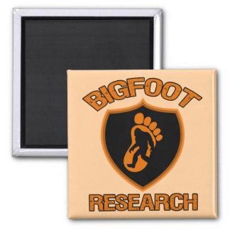 Investigación de Bigfoot Imán Cuadrado