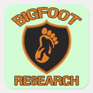 Investigación de Bigfoot Pegatinas Cuadradas Personalizadas