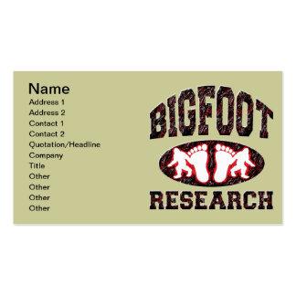 Investigación de Bigfoot Tarjetas De Visita