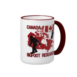 Investigación de Canadá Bigfoot Tazas De Café