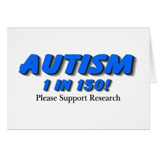 Investigación de la ayuda del autismo tarjeta de felicitación