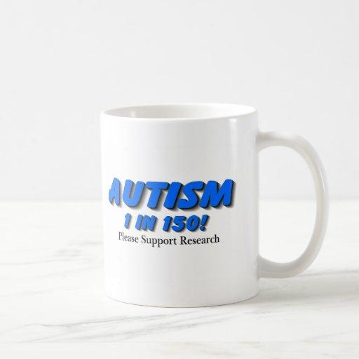 Investigación de la ayuda del autismo taza básica blanca