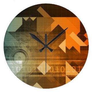 Investigación de la ciencia como concepto para la reloj redondo grande