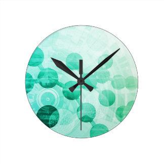 Investigación de la ciencia reloj redondo mediano