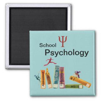 Investigación de la psicología de la escuela para imán cuadrado