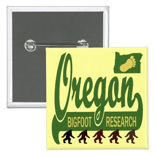 Investigación de Oregon Bigfoot Pin Cuadrada 5 Cm