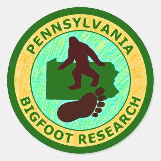 Investigación de Pennsylvania Bigfoot Pegatina Redonda