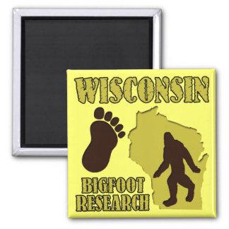 Investigación de Wisconsin Bigfoot Imán Cuadrado