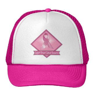 Investigación del cáncer de pecho de la ayuda gorros bordados