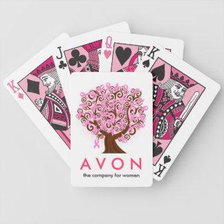 Investigación del cáncer de pecho de las ayudas de baraja de cartas